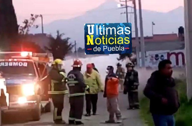Evacúan a más de 1000 personas por fuga de gas en Amozoc.