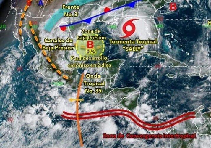 Pronostican lluvias de fuertes a puntuales muy fuertes en la mayor parte del estado.