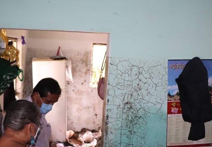 44 viviendas afectadas por lluvias en Izúcar de Matamoros.