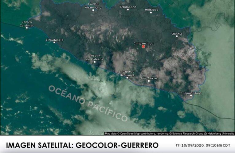 SISTEMAS METEOROLÓGICOS EN EL PAÍS QUE AFECTAN AL ESTADO DE GUERRERO, ESTE 09 DE OCTUBRE DE 2020