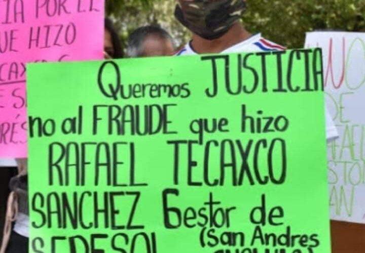 Inhabilitado por 5 años Rafael Tecaxco por defraudar a vecinos sanandreseños