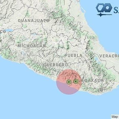 Sismo detectado el 30-oct-20 a las 14:43:01 hrs. COSTA DE GUERRERO.