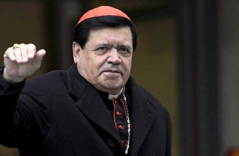 Cardenal Norberto Rivera sin recursos para pagar hospital donde es tratado por COVID-19.