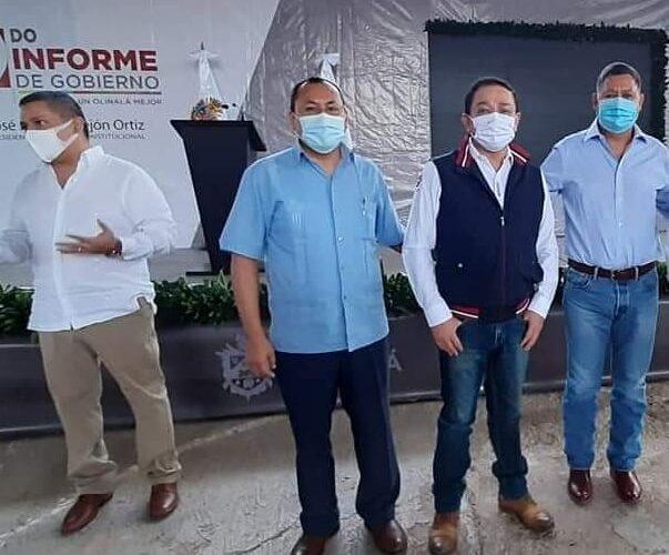 Rinde su segundo informe el alcalde de Olinalá; José Juan Herrejon Ortiz.