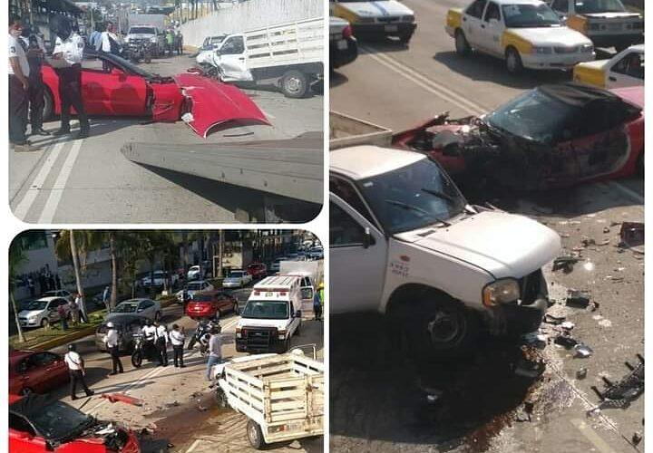 Se registra accidente en el puerto de Acapulco.