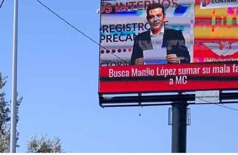 Exibia a personajes y a políticos; retiran la pantalla publicitaria al periodista Fabián Gómez.