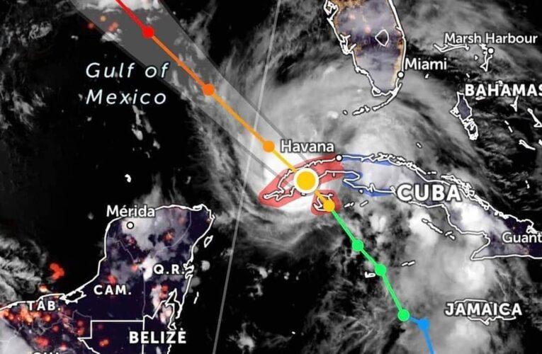 """El huracán """"ida"""" se acerca a las costas de Quintana Roo."""