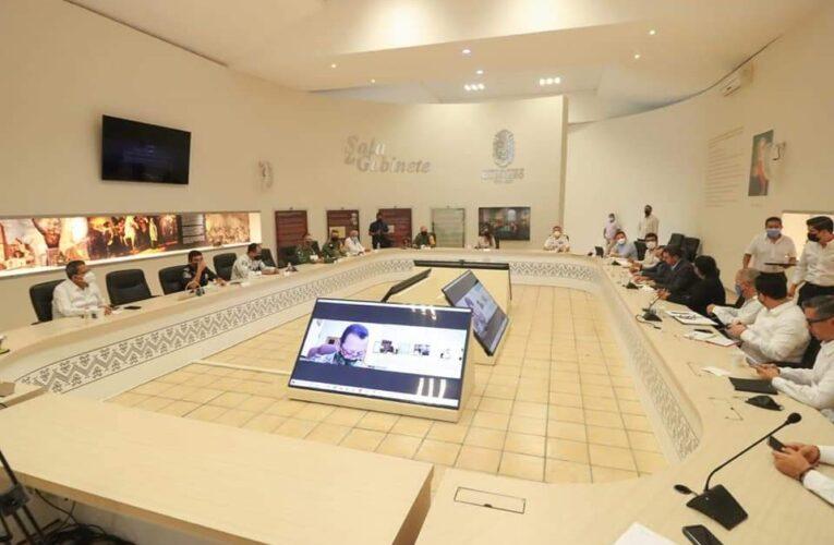 Encabeza la gobernadora Evelyn Salgado Pineda, sesión diaria de la mesa de coordinación estatal para la construcción de la paz.